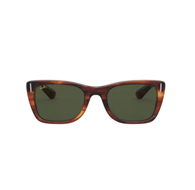 Okulary Przeciwsłoneczne RAY-BAN RB 2248 52 954/31, Styl: Lifestyle, Polaryzacja: Nie , Materiał: Plastik, Kształt oprawy: Prostokątne, Rodzaj oprawy: Pełne, Kolor soczewki: Zielone, Kolor oprawy: Brązowy, Przekątna soczewki: 52, Szerokość mostka: 22, Długość zausznika: 145